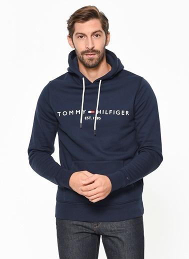 Tommy Hilfiger Kapüşonlu Sweatshirt Lacivert